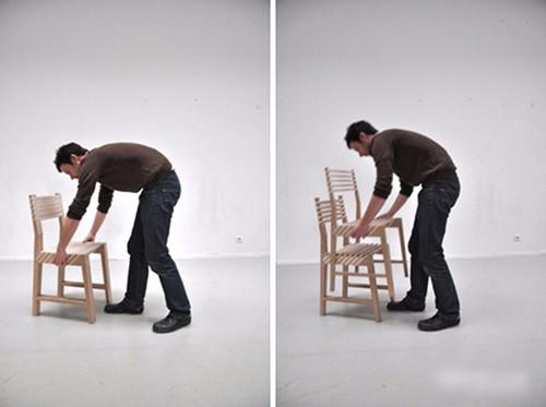 能够节能空间的椅子 折叠后不到6厘米