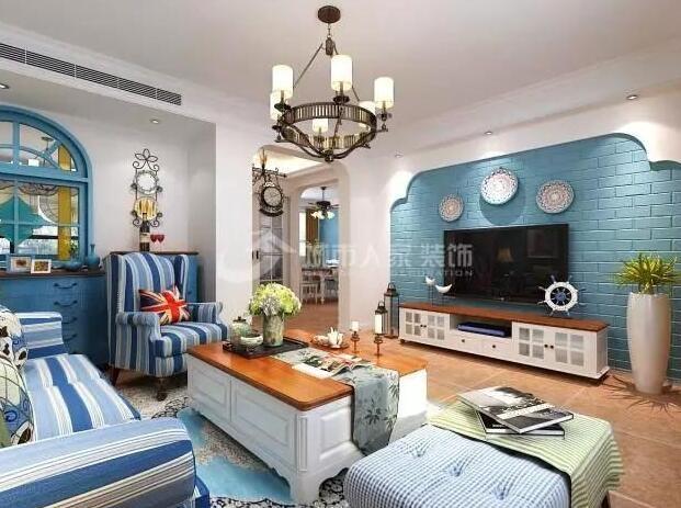 释放自由、浪漫、纯美气息的家——144㎡地中海风格