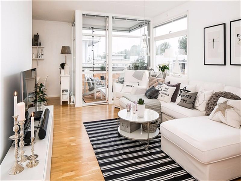 50平小户型家居,为你打造的纯白世界