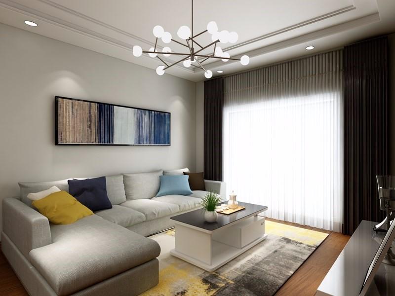 98㎡现代风格装修案例,清爽简洁、时尚大方。