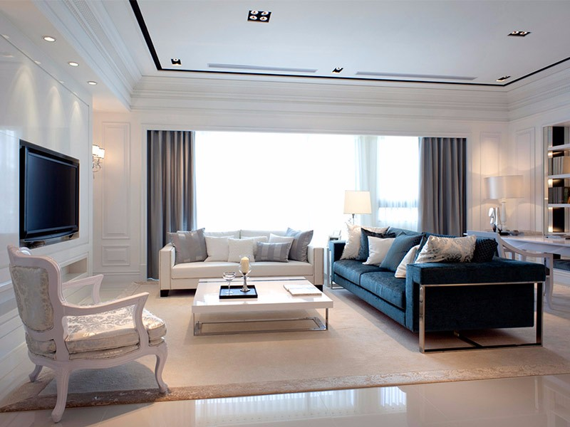 欧式装修效果图,喜欢客厅与卧室简欧风的优雅与大气!