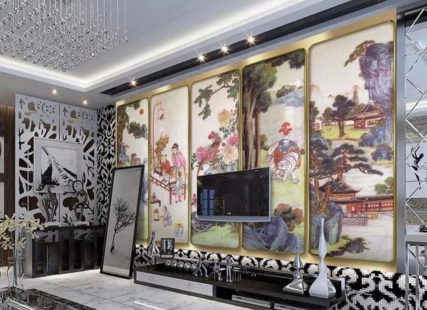 室内壁画装饰既能体现装修风格,还能展现个性和艺术爱好