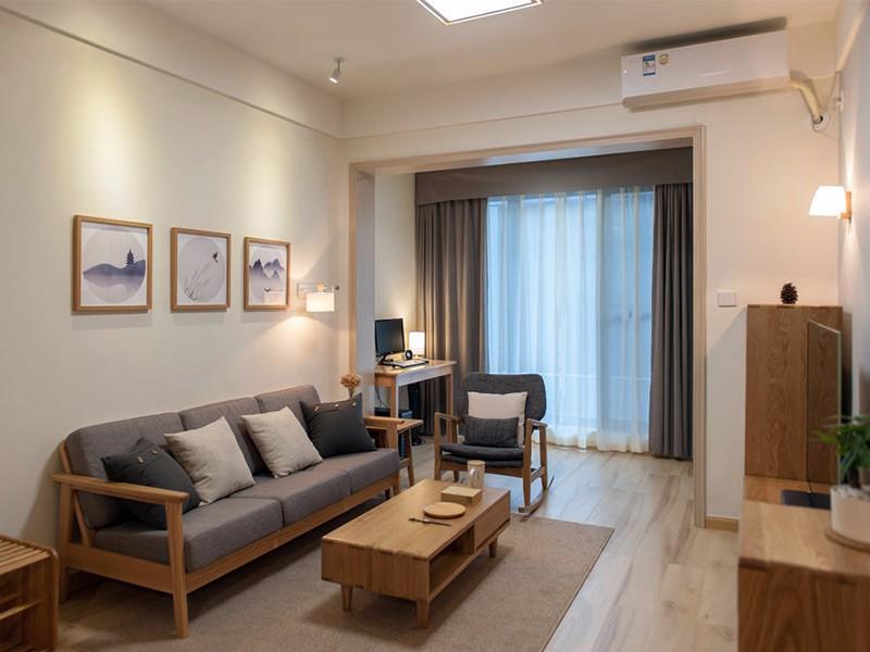 100平米三室两厅装修效果图,喜欢日式风格清新与舒适!