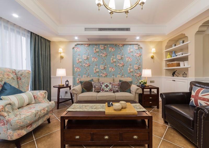 三室两厅户型,属于你的美式清新浪漫居室