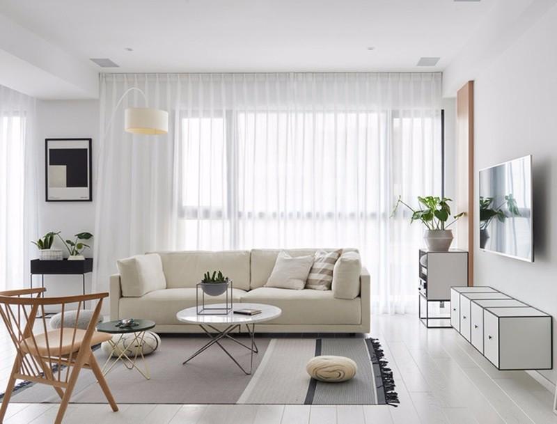 三室二厅户型,130平北欧风格装修,简单却不失原味