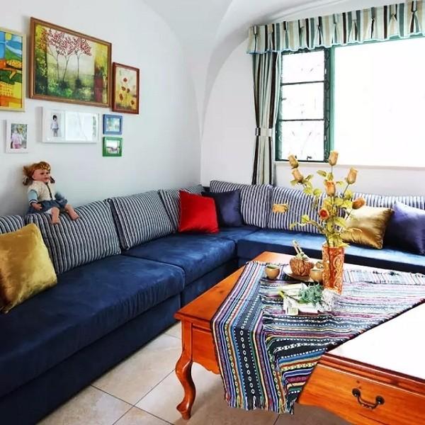 75平米两室一厅装修效果图,简约明快又不失浪漫情调!