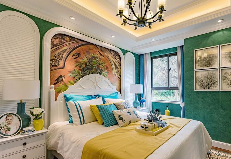 夫妻卧室装修效果图,属于你们的浪漫温馨小天地