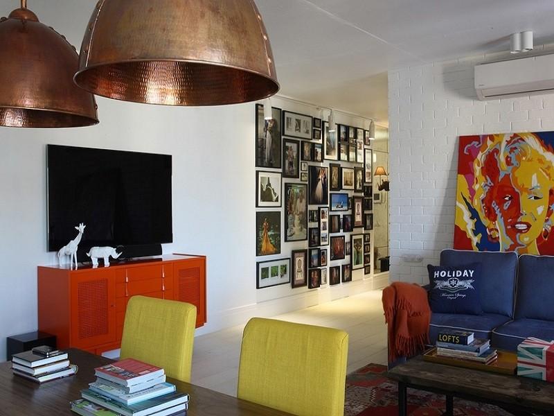52平米一室一厅装修图,色彩缤纷、充满浓郁的艺术气息!
