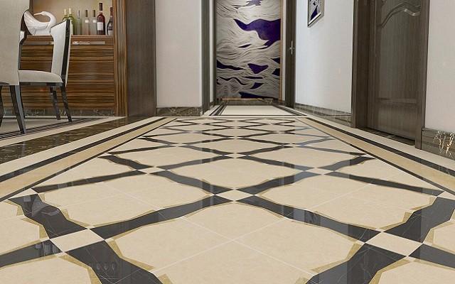 新中式地面拼花地面裝飾建材,讓地面也能開出花