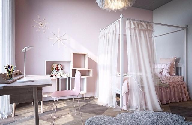 唯美公主风卧室装修案例,为自己圆一次公主梦