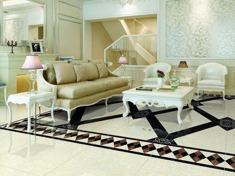 客厅瓷砖拼花效果图,最重要的是与客厅整体风格相搭配!