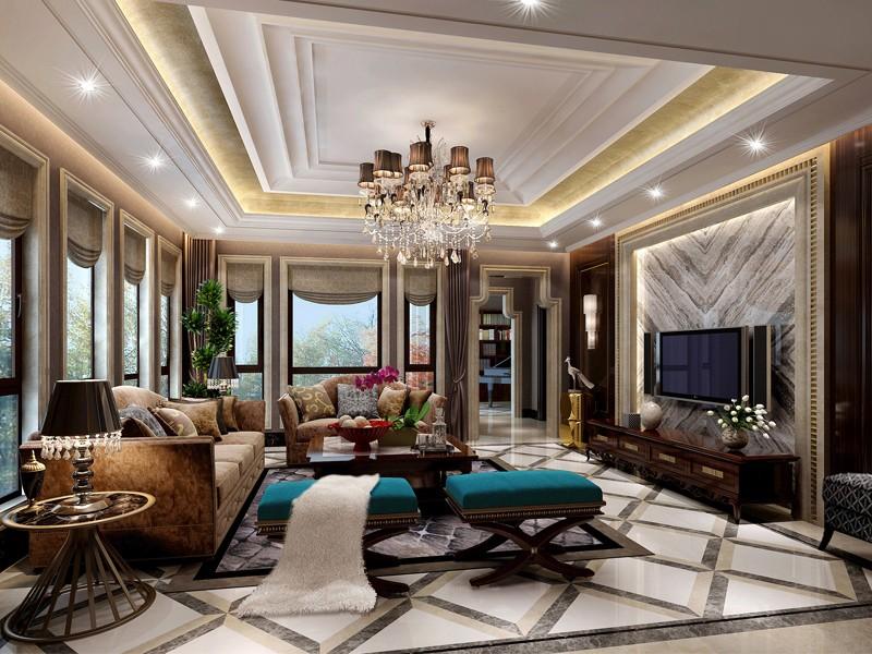 503㎡欧式风四居室装修 高端华丽,感受异域风情!