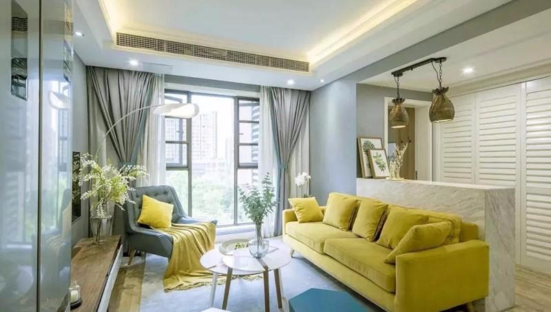 清新现代风•两居•75平之厨房花砖元素+活跃龙猫色