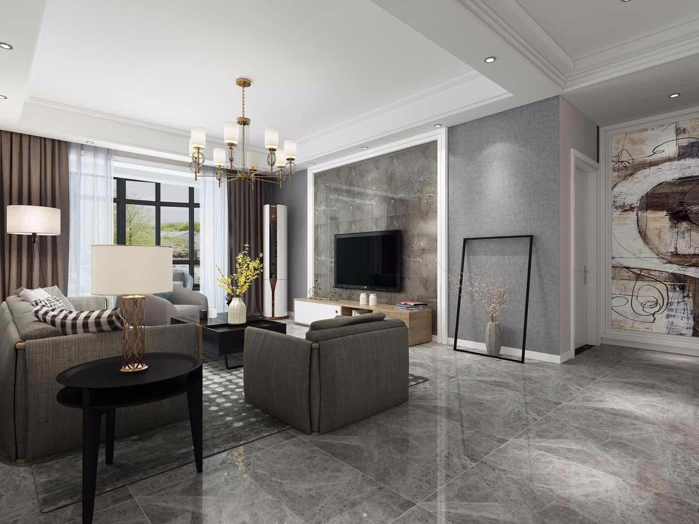 塞纳春天130三室两厅现代简约装修效果图
