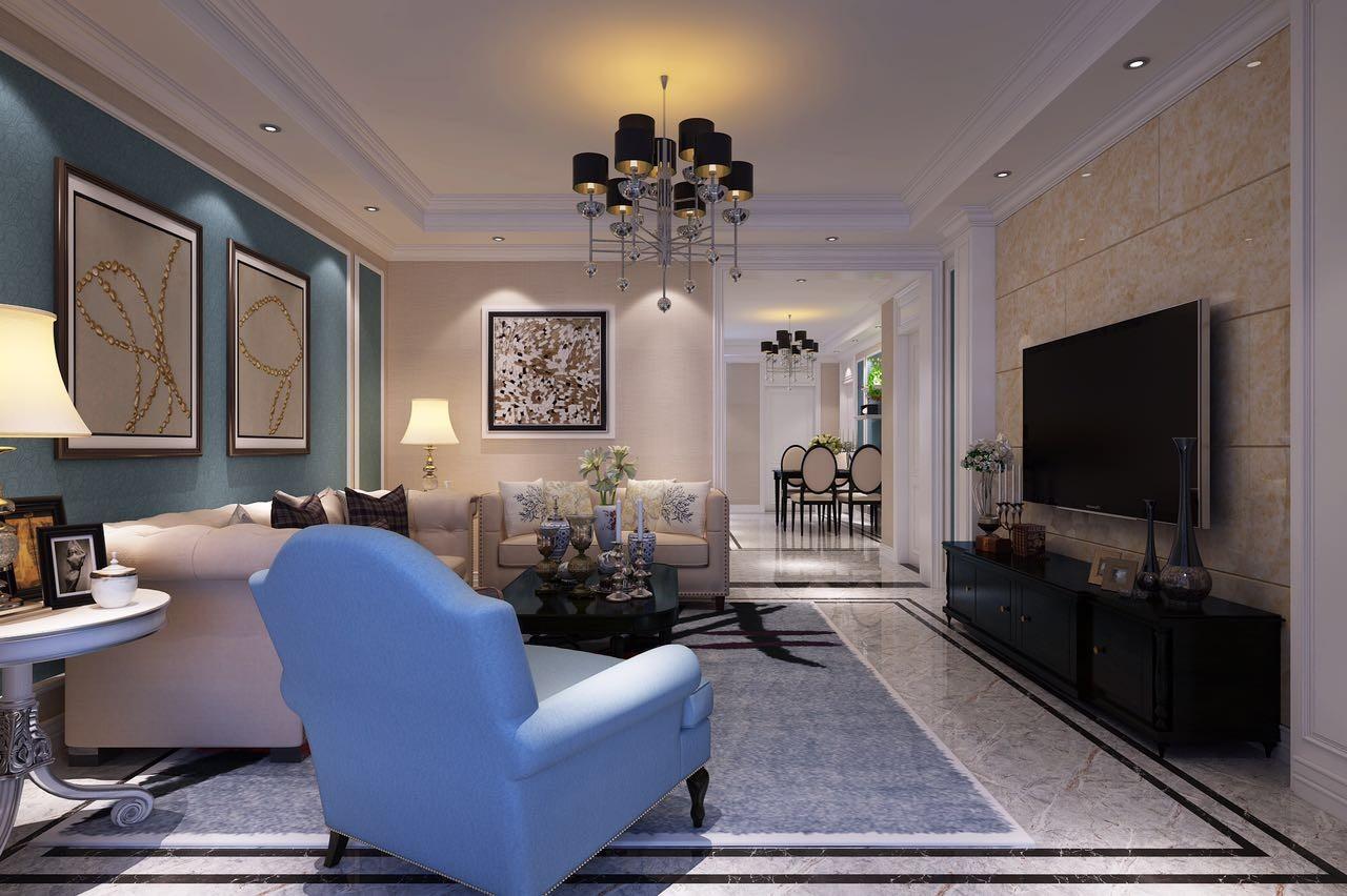 3室1卫2厅140平米简欧风格