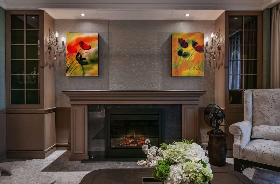卢浮宫馆14万110平美式乡村风格三居室装修效果图