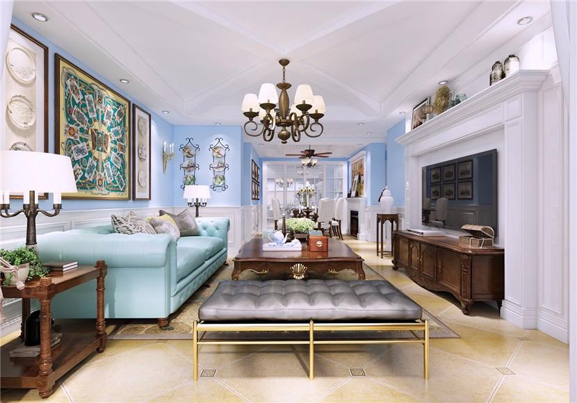 2室1卫1厅150平米法式风格