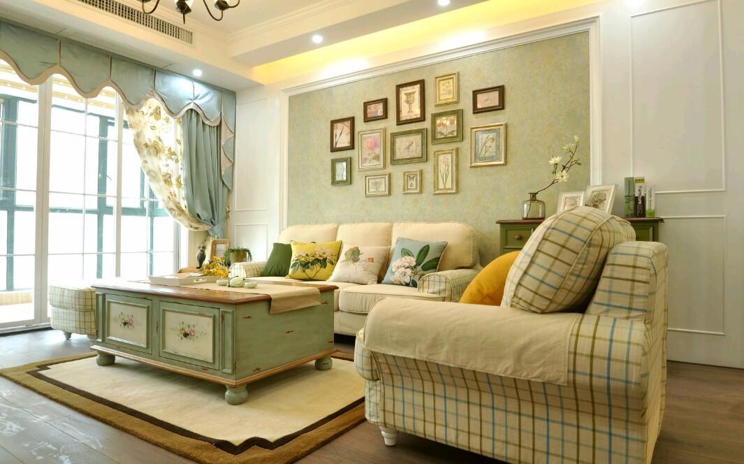 美式风格90平米二居室装修效果图