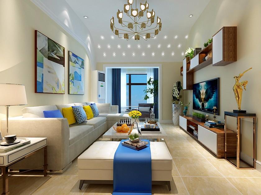 3室2衛1廳120平米現代簡約風格