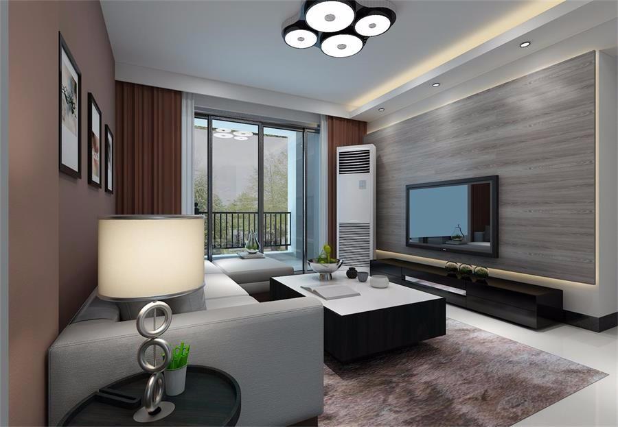 昌泰鑫金绿洲90平现代三居室装修效果图