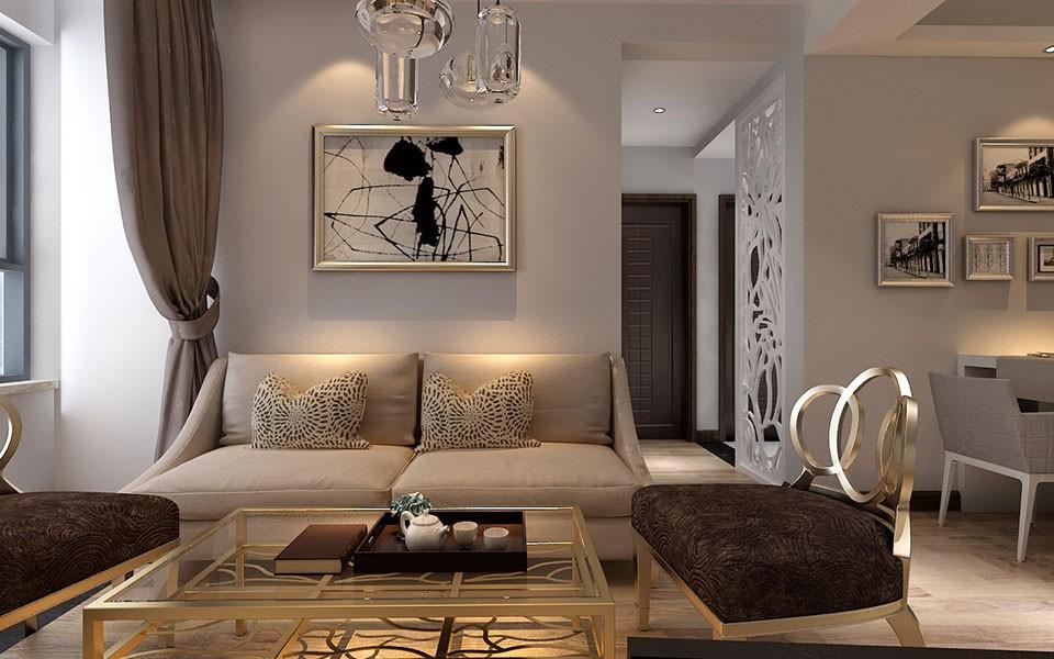 云润天阳74㎡两居室现代简约装修效果图