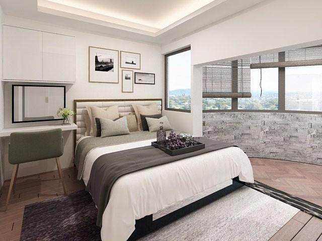 华侨乐园90㎡现代简约风格三居室装修效果图