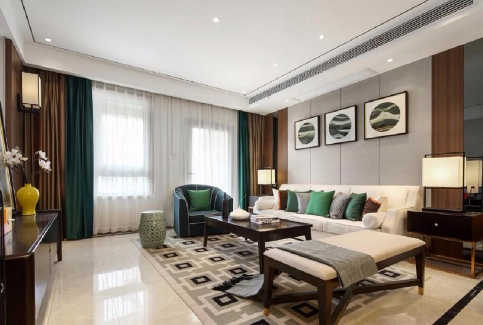 2021现代中式120平米装修效果图片 2021现代中式套房设计图片
