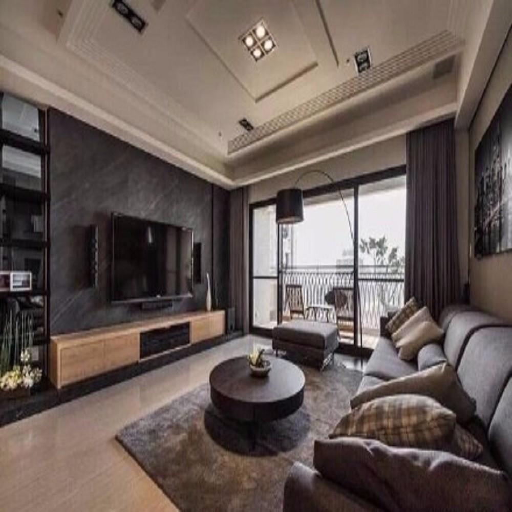 建业132平方三居室后现代装修效果图
