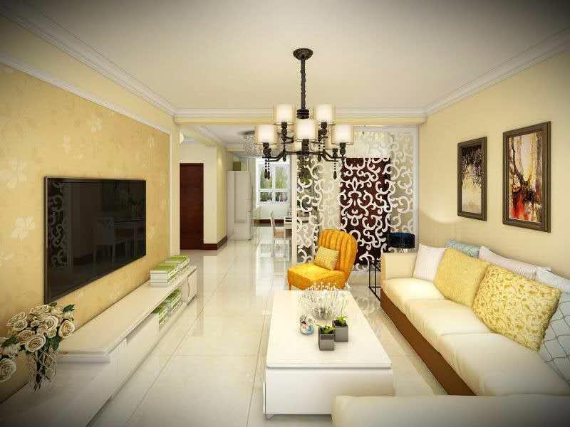中海寰宇天下85平现代简约风格二居室装修效果图