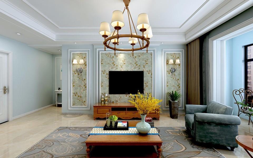 龙海林溪140平简欧风格3室2厅装修效果图