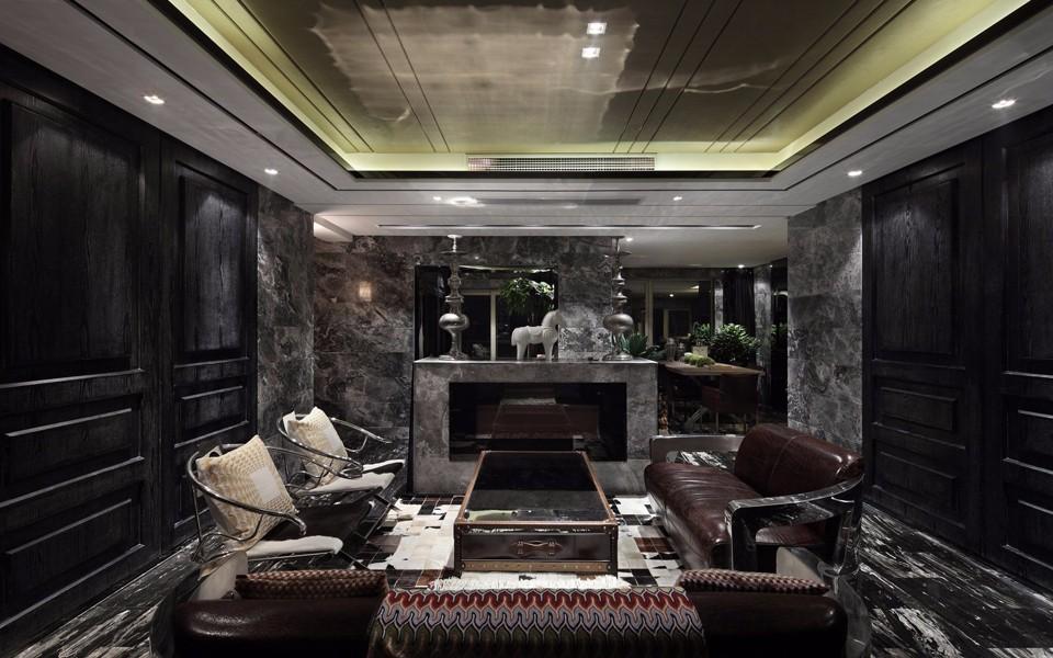 朗詩竸園140平現代風格三居室裝修效果圖