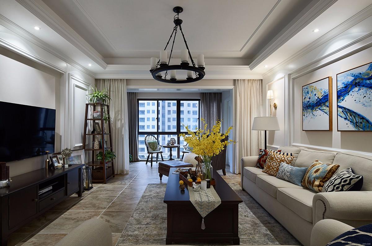 3室1卫2厅136平米美式风格