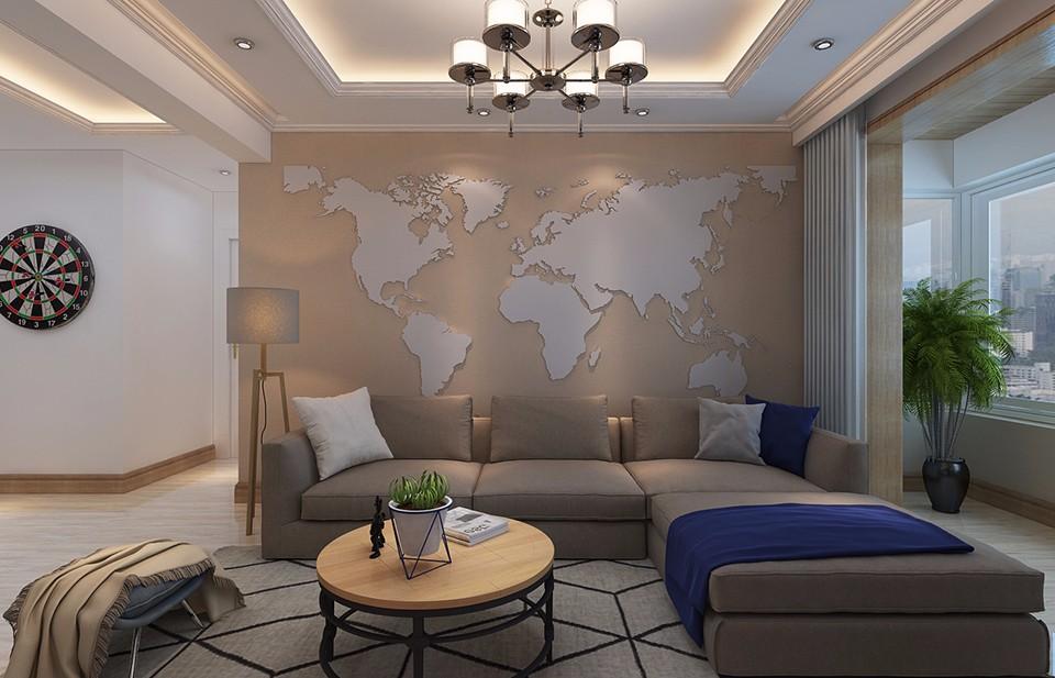 長電朗天國際120平混搭風格三居室裝修效果圖