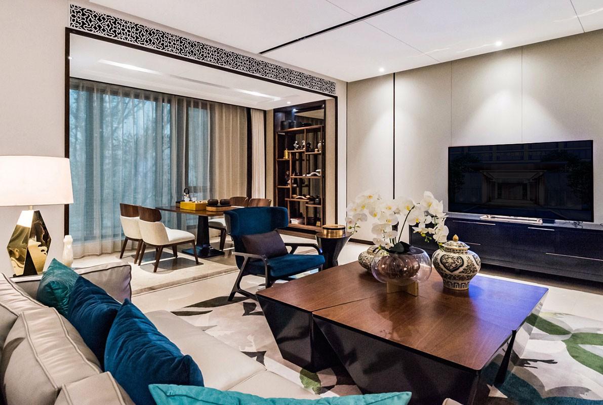 3室1衛2廳120平米現代中式風格