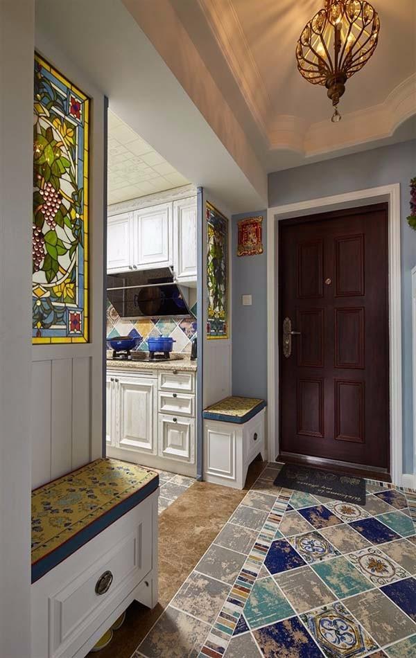 朗詩未來家85平三室兩廳混搭裝修效果圖