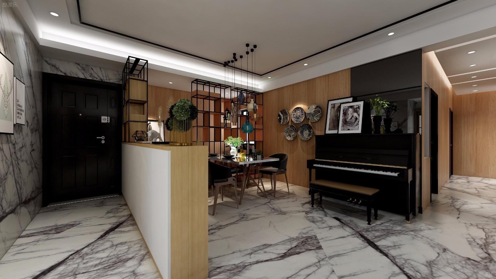 138平米现代简约风格两室两厅两卫装修效果图