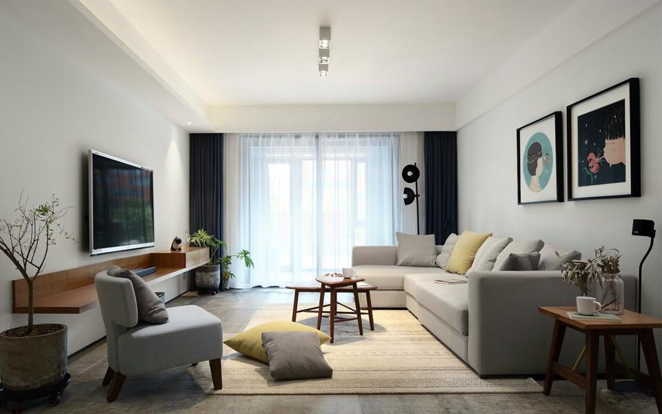 1室1卫2厅124平米现代风格