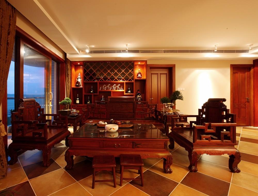 南京明发滨江160平米中式风格四居室装修效果图