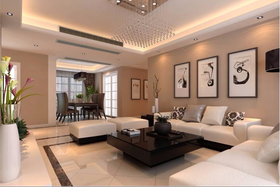 茂华紫苑公馆120平现代简约三居室装修效果图