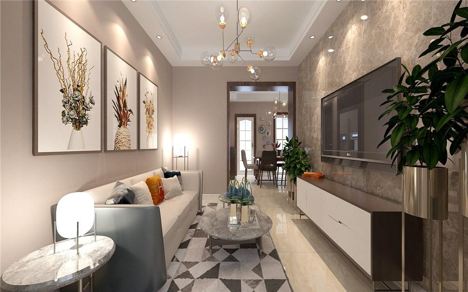 2室1卫2厅65平米新中式风格