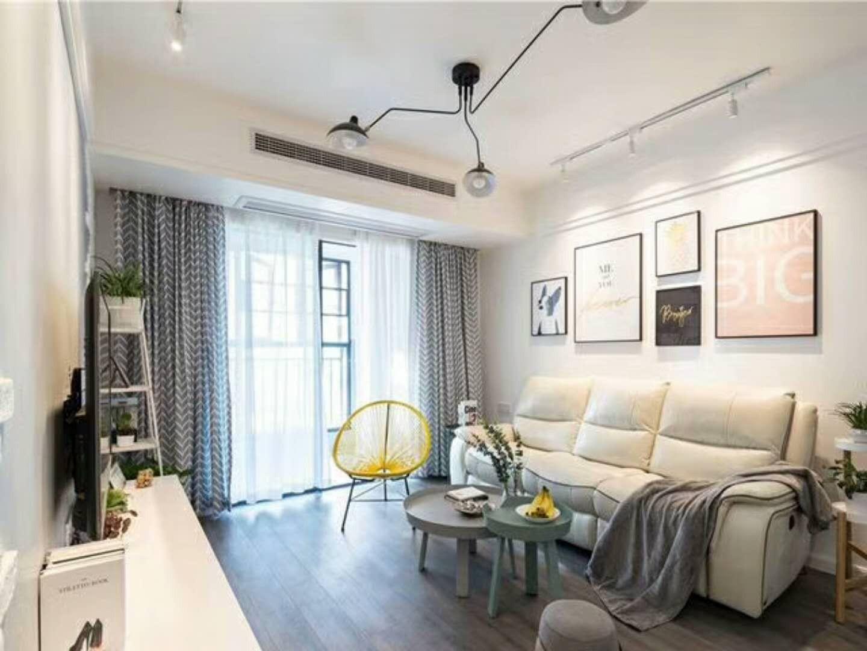 北欧风格101平米三室两厅新房装修效果图