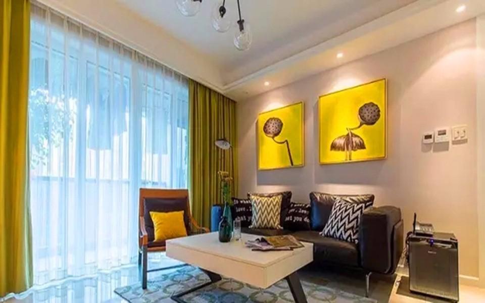 保利梧桐语125平三室两厅现代风格装修效果图
