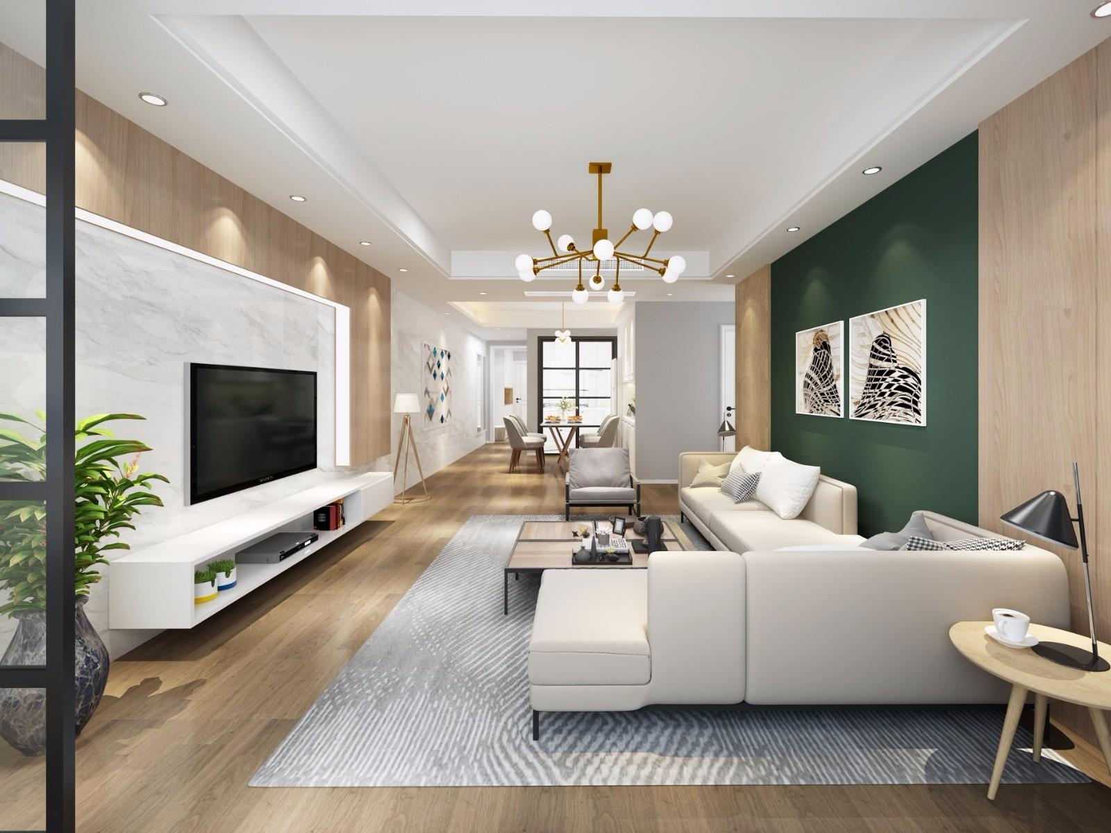现代风格152平米四室两厅新房装修效果图