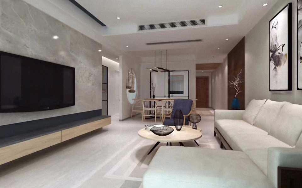 3室1卫2厅88平米新中式风格