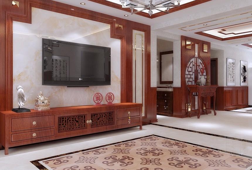 330平米中式别墅装修效果图