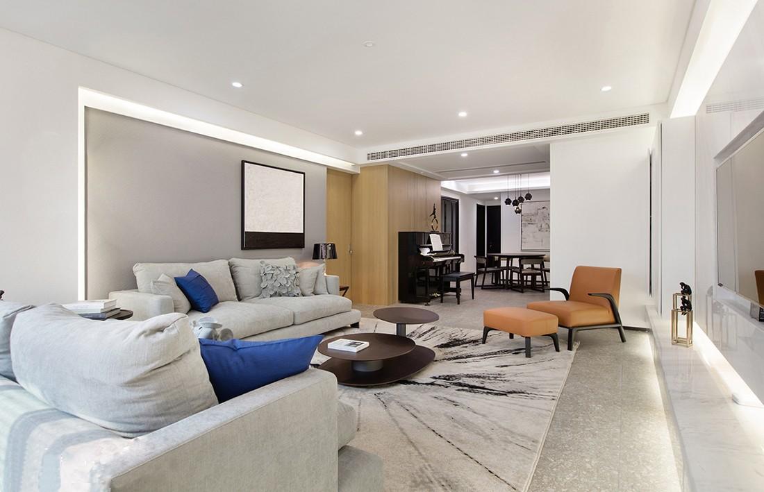 半岛城邦150平米现代风格三居室装修效果图