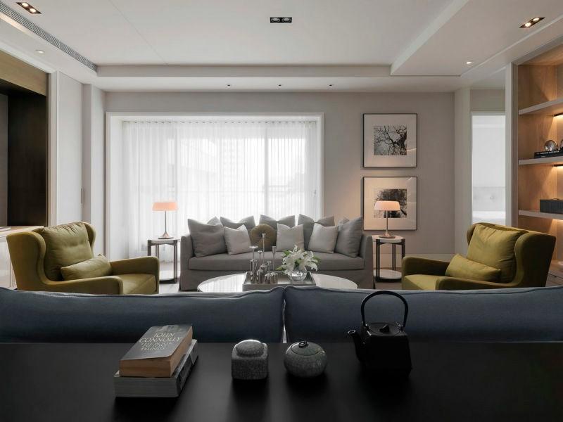 保利拉菲公馆130平米二居室现代简约风格装修效果图