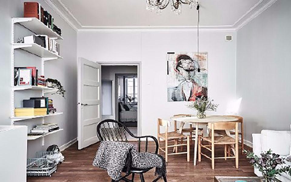 100平方北欧风格两室一厅装修效果图