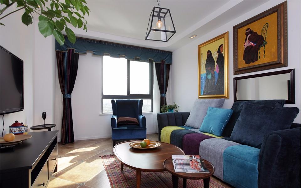 2室2卫1厅65平米混搭风格