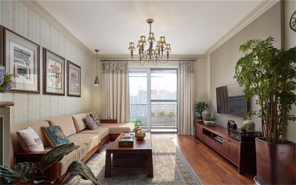 3室1卫2厅90平米美式风格